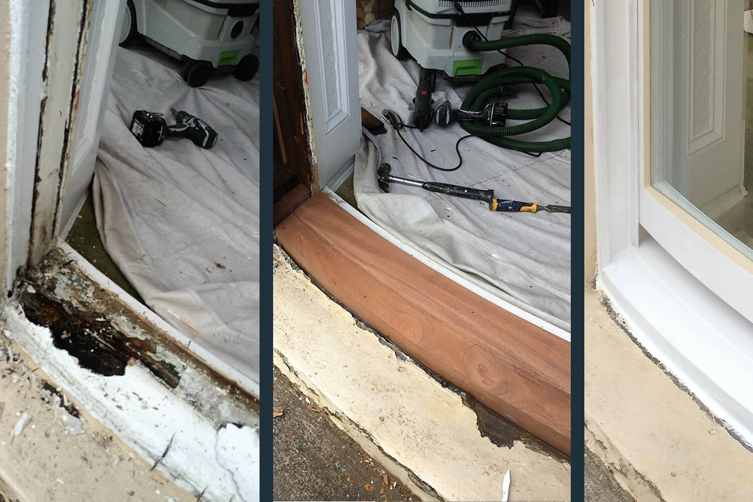 Window restoration before, during after